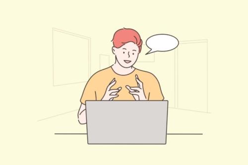 オンライン授業を受ける人